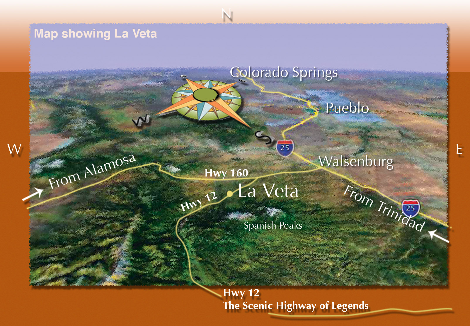 Highway Of Legends Colorado Map.Driving Directions