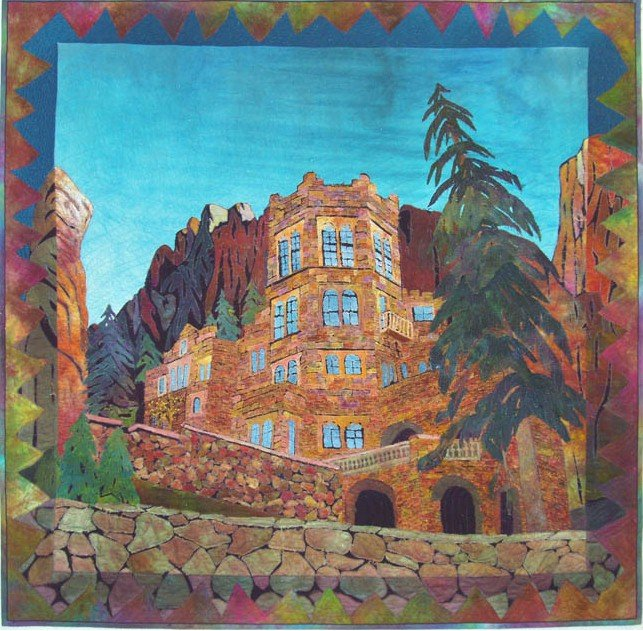 Glen Eyrie Castle Quilt (Private Collection)