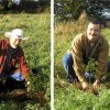 Ricky & Justin planting oaks in a Rath in Ireland