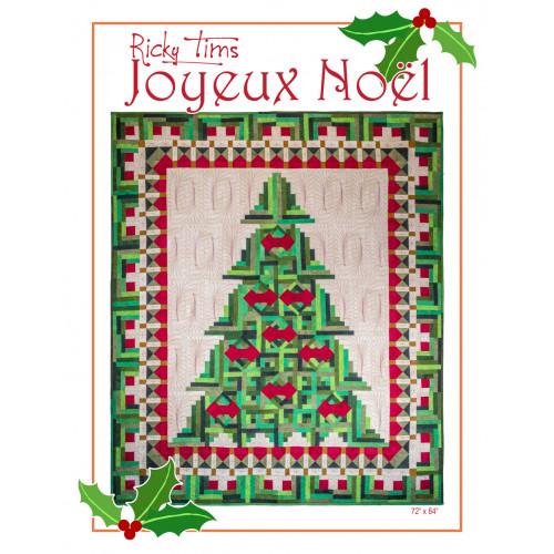 Log Cabin Christmas Tree Quilt.Joyeux Noel Pattern