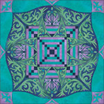 Lady of Shalott Turquoise / Green / Purple